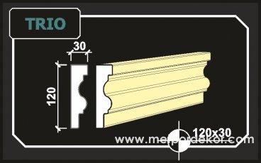 2005 ten Günümüze Binlerce Metre Trio Söve 12cm x 3cm